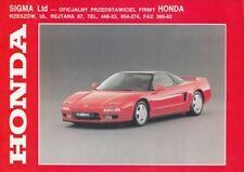 HONDA RANGE PROGRAM 1992 INCL. NSX BROCHURE PROSPEKT FOLDER