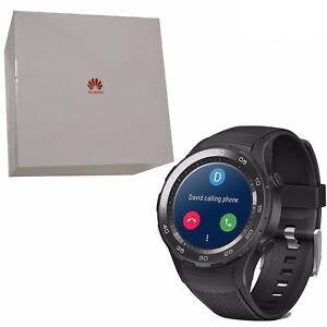 BNIB Huawei Watch 2 Sport 4GB Carbon Black IP68 Plastic Strap Android Wear OS