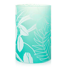 YANKEE CANDLE TAHITIAN FROSTED MIST TROPICAL FLOWER DOUBLE TEA LIGHT HOLDER