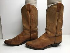VTG WOMENS UNBRANDED SNIP TOE COWBOY BROWN BOOTS SIZE 10 M