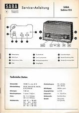 Service Manual-Anleitung für Saba Sabine 125