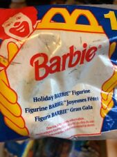 New Sealed McDonalds Barbie Holiday Barbie Figurine Happy Meal Toy