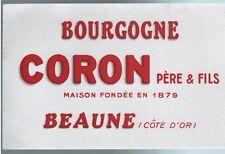 Buvard Publicitaire - Beaune - Coron Père & fils -/Bourgogne