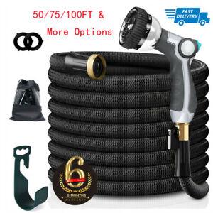 50/75/100FT Garden Hose Expandable Lightweight Heavy Duty Flexible Water Hose