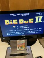 🔥100% WORKING NINTENDO NES RARE FUN ARCADE CLASSIC Game Cartridge DIG DUG 2🔥
