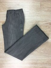 Used Womens Sz 26 Hurley Denim Low Rise Gray Stretch Flare Trouser 99 Grey Jeans