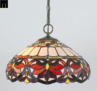 "Artwork 16"" Shade Tiffany Victorian Stained Glass Pendant Light Home Ceiling"