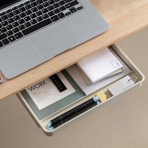 1PC Drawer Self-adhesive Plastic Under Desk Table Storage Drawer Storage  Nj