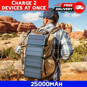 Backpack Solar Panel Phone Charger Portable Laptop iPhone Hiking Outdoor Power