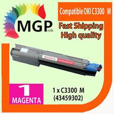 1x Magenta Compatible Toner Cartridge for OKI C3300 3300 C3400 3400 C3300N