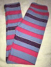 LuLaRoe Kids Leggings NWT L/XL Large XLarge Blue Pink Purple Striped