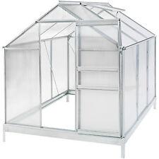 Serre de jardin + fondation alu polycarbonate tente abri plante jardinage 5,7m³