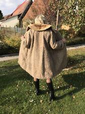 Schicker Persianer Mantel mit Nerzkragen Größe 36/38 Pelzmantel hell