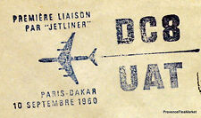 1960 DC8  UAT PARIS DAKAR SENEGAL    Airmail Aviation premier vol AC11