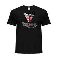 New Triumph Motorcycle Logo Graphic Printed Crew Neck Cotton T-shirt Unisex
