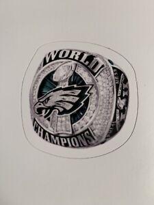 "Philadelphia Eagles Champions Super Bowl 52 Decal / Sticker Superbowl Ring 2"""