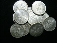 ROLL OF 20 1944 MEXICO SILVER 50 CENTAVOS CHOICE UNCIRCULATED 20 TOTAL COINS