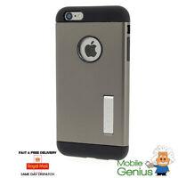 iPhone 6 Plus Protective Case. Spigen Slim Armor Gunmetal Kickstand Double Layer