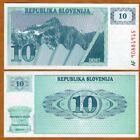 Slovenia, 10 (Tolarjev), 1990, P-4, UNC > First Issue