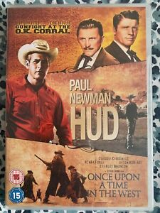 Gunfight At The OK Corral / Hud / Once Upon A Time In The West (DVD) Brand New!