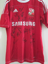Swindon Town 2011-2012 Squad Signed Home Football Shirt FLT letter coa /40464