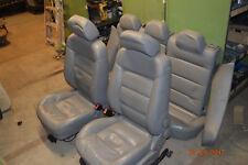 Ledersitze Sitze vorne hinten Leder grau VW Passat 3B6 Bj.02 kombi /128