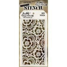 Tim Holtz Lace layered Stencil, Art, Craft, Mixed Media, Collage, Scrapbooking