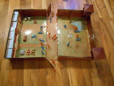 Old Vintage 1968 MARX Carry All Action Fort Apache Play Set # 4685 Suitcase Toy
