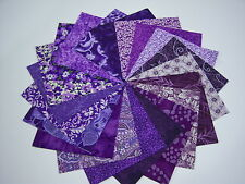 "40 Deep Purple 4"" Cotton Fabric Quilt Quilting Squares 40 kit * Charms"