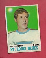 1970-71 TOPPS # 102 BLUES TIM ECCLESTONE  NRMT  CARD