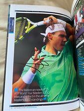 Rafa Nadal Signed 2010 ATP Official Tour Book Tennis Autographed Wimbledon