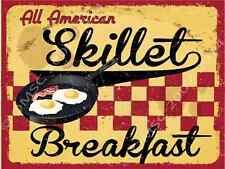 All American Skillet Breakfast Metal Sign, Retro Cafe, Restaurant, Kitchen Decor