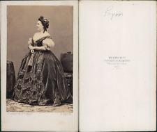 Disdéri, Paris, Emilie Guyon Vintage CDV albumen carte de visite.Émilie-Honori