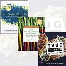Veganomicon,The Oh She Glows Cookbook,Thug Kitchen 3 Books Set Mixed Lot English