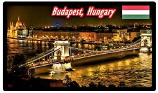 BUDAPEST, HUNGARY - SOUVENIR NOVELTY FRIDGE MAGNET - SIGHTS / FLAG / GIFTS / NEW