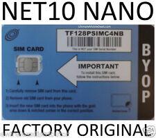 THIS NANO SIM CARD GETS UNLIMITED AT&T DATA TALK TEXT = $45MO NET10