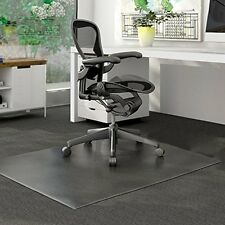 PVC Home Office Chair Floor Mat for Pile Carpet,35''x39''