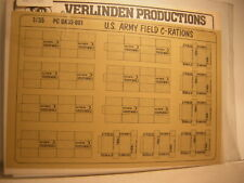 Verlinden Production 1/35 U.S Army Field C-Rations    diorama