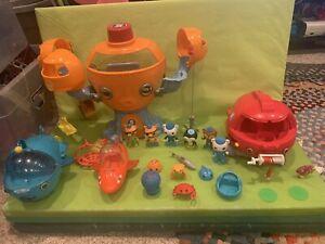 Fisher Price Octonauts Octopod Playset 2010 Figures LOT Captain Barnacles Toys