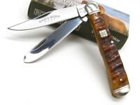 Rough Rider Rams Horn Trapper  Stainless 2 Blade Folding Pocket Knife RR1509