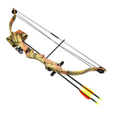 20 lb Camouflage Camo Archery Hunting Compound Bow +Quiver Crossbow 25 55