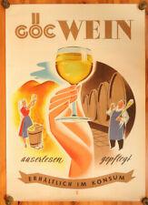 Original KONSUM Plakat Österreich - GÖC Wein, Werbeplakat, Reklame