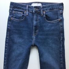 Ladies Topshop Jamie Blue Faded Skinny Jeans Ankle Grazer W28 L32 UK 10 (879i)