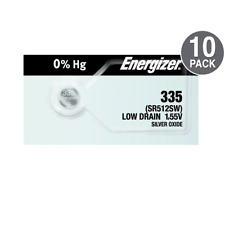 Battery Cell (10 Pack) Energizer 335 Watch Batteries Sr512Sw