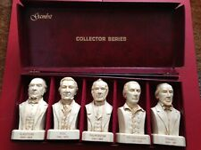 More details for gambit collectors series set of 5 busts british prime minister peel disraeli