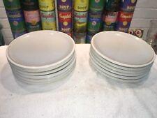 "(6) Denby SPIRIT 9"" Salad Plates Gray White - Nice!"
