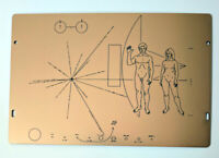 Full size replica of NASA Pioneer Plaque, made in Australia. Laser engraved