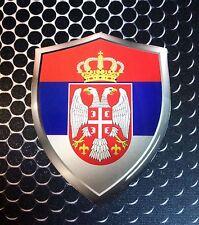 """Serbia Shield Flag Srbija Proud Domed Decal Emblem Car Sticker 3D 2.3""""x 3"""""""