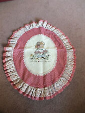 Collectible Needlepoint Sampler Completed He Loves Me He Loves Me Not CUTE