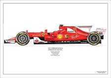 2017 Kimi Raikkonen Ferrari SF70-H ltd ed. 1 /250 signed & numbered by artist